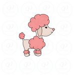Poodle Dog 1 Cookie Cutter - Periwinkles Cutters LLC