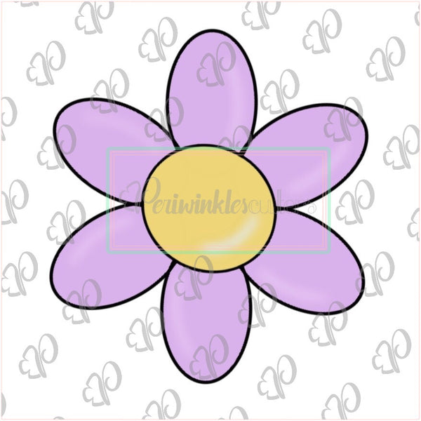 Pink Flower Cookie Cutter - Periwinkles Cutters LLC