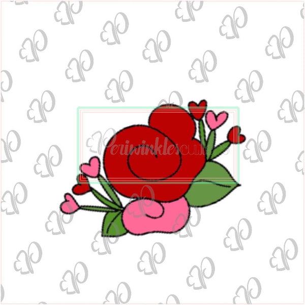 Roses Bouquet 2019 Cookie Cutter - Periwinkles Cutters LLC