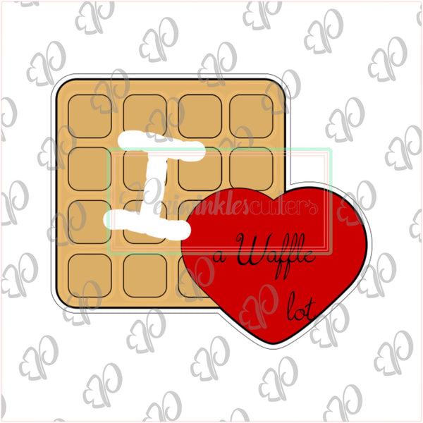 I love you a waffle lot Cookie Cutter - Periwinkles Cutters LLC