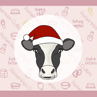 Heifer Cow with Santa's