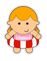 Girl Lifeguard - Summer Girl Cookie Cutter - Periwinkles Cutters LLC
