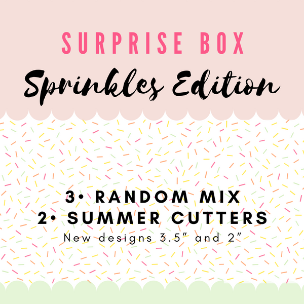 Surprise Box Sprinkles Edition - Periwinkles Cutters LLC