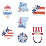 Round American Flag Cookie Cutter - Periwinkles Cutters LLC