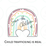 Save the Children Rainbow Cookie Cutter - Periwinkles Cutters LLC