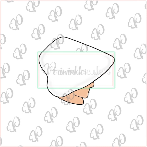 Handmaid's Tale Inspired Cookie Cutter - Handmaid Hat Cookie Cutter - Periwinkles Cutters LLC