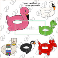 Flamingo Float Cookie Cutter - Periwinkles Cutters LLC
