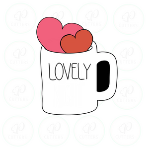 Lovely Mug Cookie Cutter - Periwinkles Cutters LLC