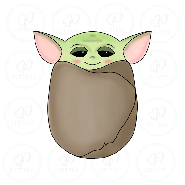 Newborn Space Baby YO DA Cookie Cutter - Yoda - Periwinkles Cutters LLC