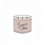 Sugar Cookie Candle Cookie Cutter