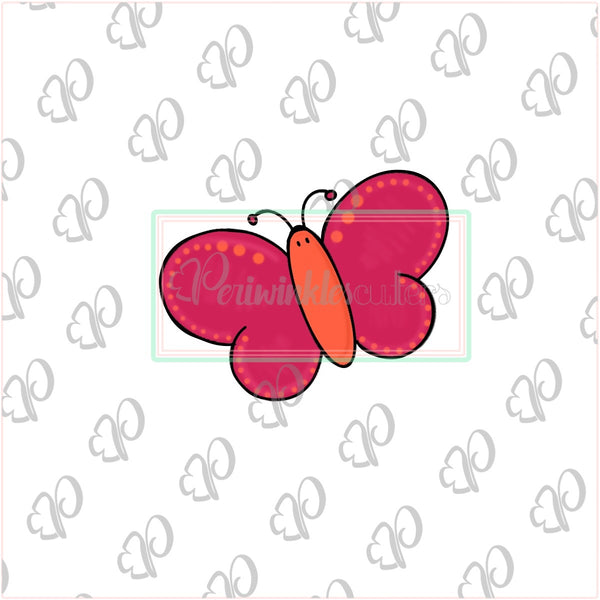 Butterfly Cookie Cutter - Summer Cookie Cutter - Spring Cookie Cutter - Periwinkles Cutters LLC