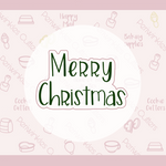 Merry Christmas or Happy Hanukkah Simple Font Plaque 2020