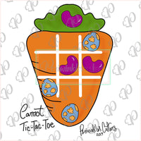 Easter Carrot Tic Tac Toe Set Cookie Cutter - Periwinkles Cutters LLC