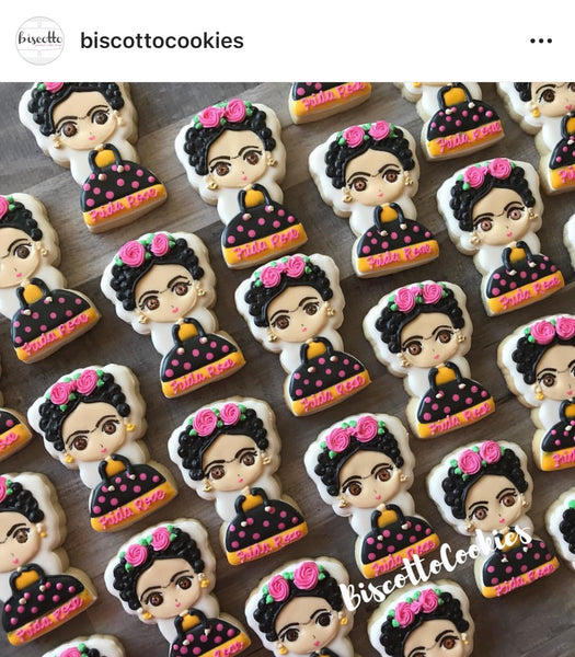 Frida Cookie Cutter - Mexico - Frida Kahlo Inspired Cutters - Periwinkles Cutters LLC