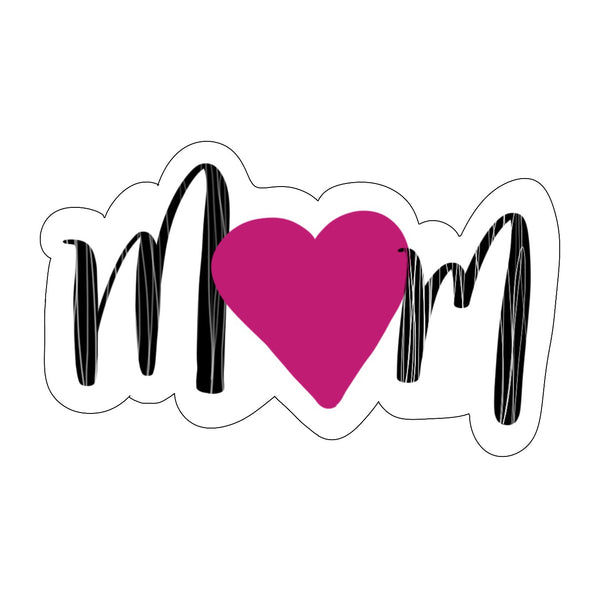 Mom with Heart Cookie Cutter - Mother's Day Cookie Cutter