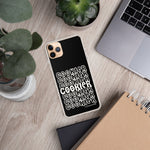 Black and White Cookier iPhone Case - Periwinkles Cutters LLC