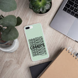 Pastel Green & Black Cookier iPhone Case - Periwinkles Cutters LLC