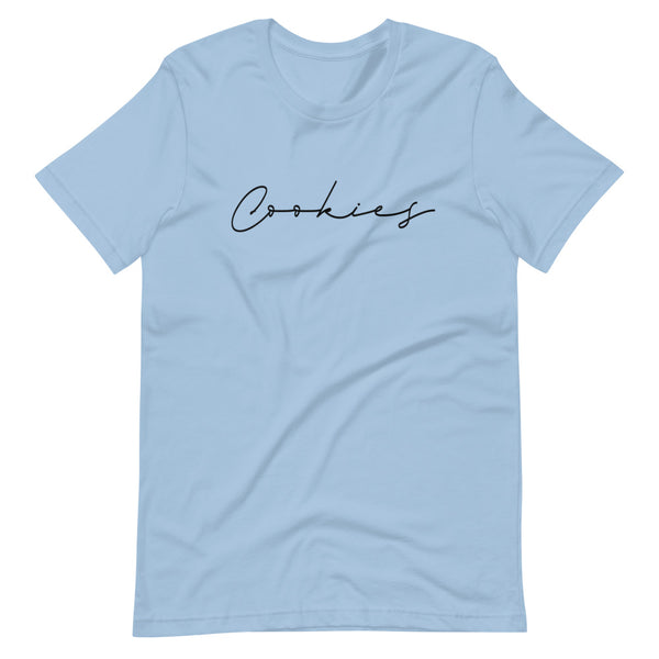 Cookies Cursive Black Print T-Shirt - Periwinkles Cookie Cutters