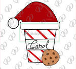 Santa's Latte Cup with Cookie