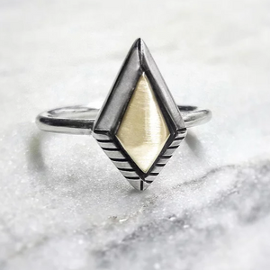 Gold and Silver Kite Ring