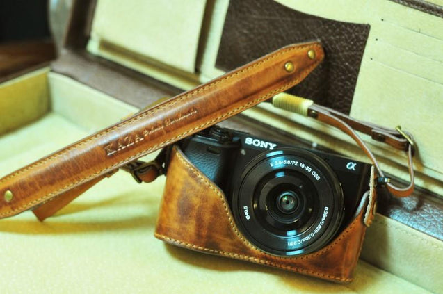 Sony A6000 Leather Camera Case - Combo Set - kaza-deluxe