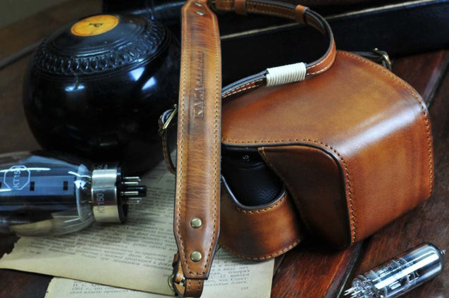 Sony A6400 Leather Camera Case - kaza-deluxe