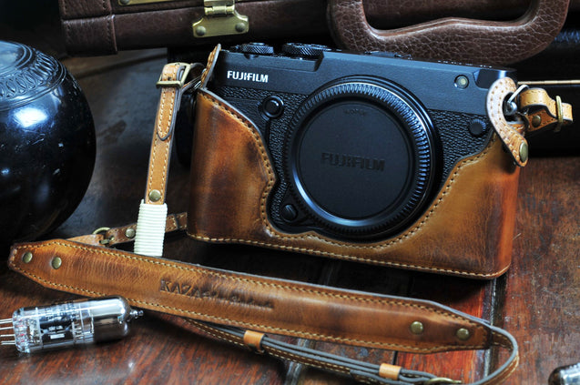 Fujifilm GFX50R Leather Camera Case - kaza-deluxe