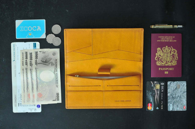Travel / Passport Wallet — Accommodate With Passport / Plane Ticket - kaza-deluxe