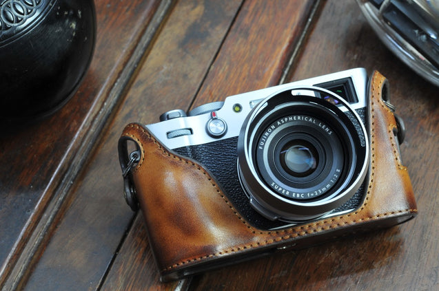 Fujifilm X 100V Leather Camera Case - kaza-deluxe