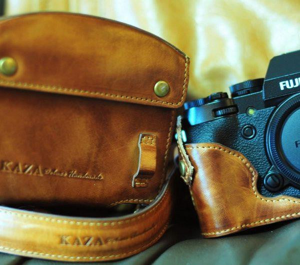 Fujifilm X T1 Leather Camera Case - Combo Set - kaza-deluxe