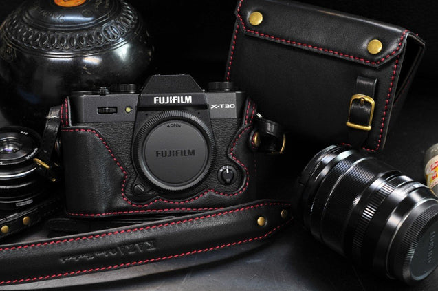 Fujifilm X T30 Leather Camera Case - kaza-deluxe