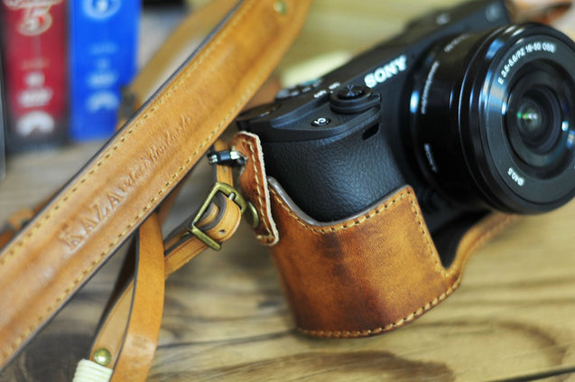 Sony A6300 Leather Camera Case - kaza-deluxe