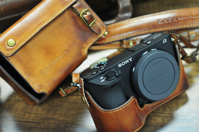 Sony A6500 Leather Camera Case - Combo Set - kaza-deluxe