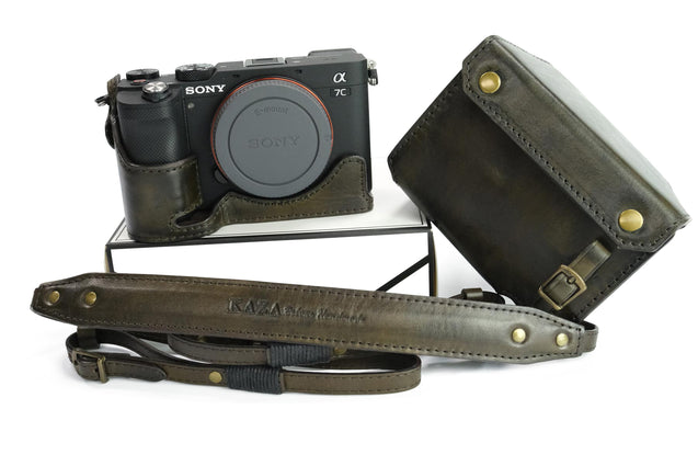 Sony A7C Leather Camera Case - Combo Set - kaza-deluxe