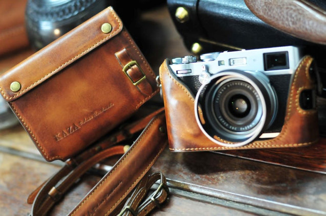 Fujifilm X 100F Leather Camera Case - Combo Set
