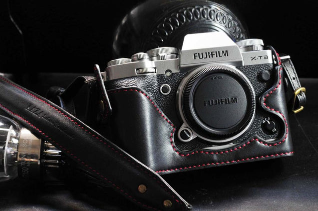 Fujifilm X T3 Leather Camera Case - kaza-deluxe