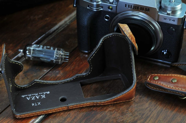 Fujifilm X T4 Leather Camera Case - kaza-deluxe