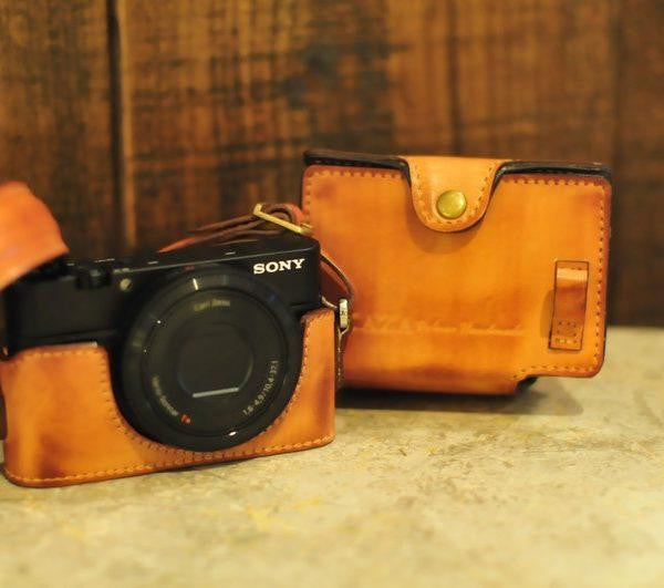 Sony RX100 Leather Camera Case - Combo Set - kaza-deluxe