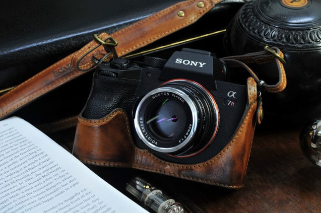 Sony A7R4 Leather Camera Case - kaza-deluxe