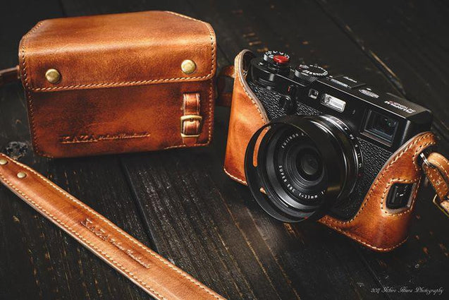 Fujifilm X 100F Leather Camera Case - Combo Set - kaza-deluxe