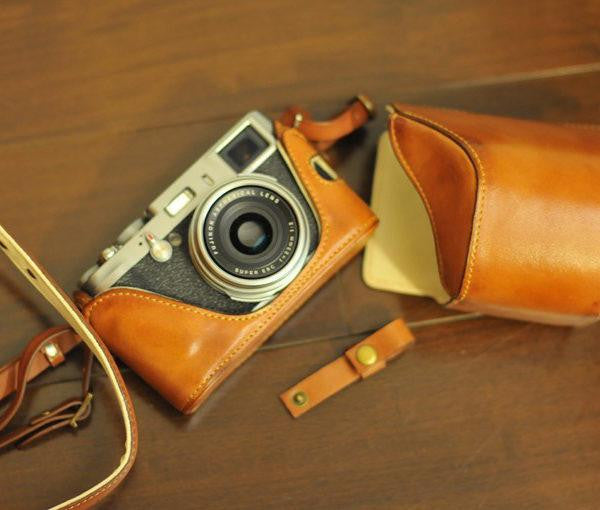 Fujifilm X 100 / X 100S Series Leather Camera Case - Combo Set - kaza-deluxe