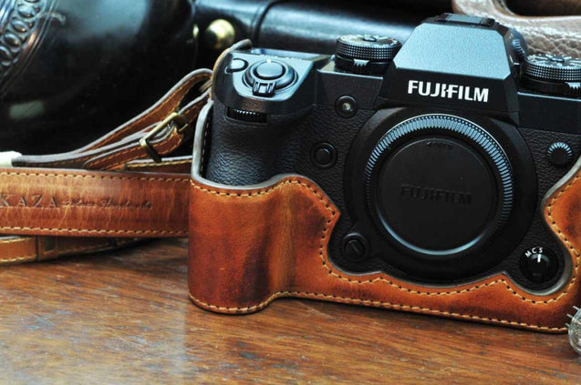 Fujifilm X H1 Leather Camera Case - Combo Set - kaza-deluxe