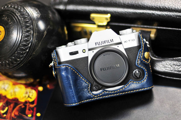 Fujifilm X T20 Leather Camera Case - Half Case - kaza-deluxe