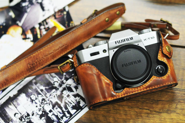 Fujifilm X T20 Leather Camera Case - Combo Set - kaza-deluxe