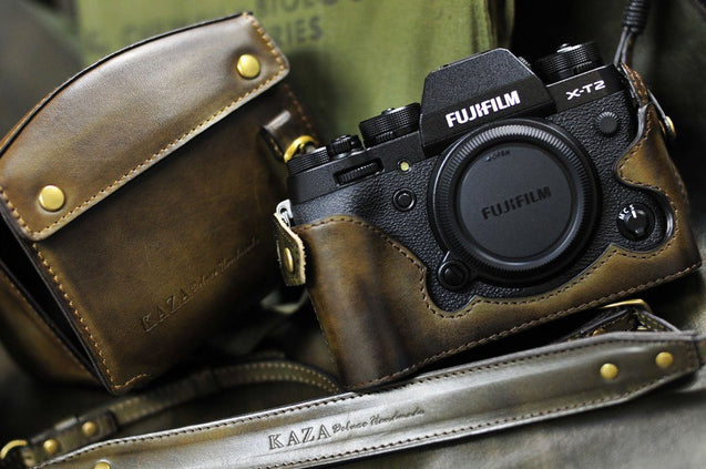 Fujifilm X T2 Leather Camera Case - kaza-deluxe