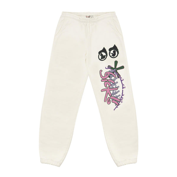 Amhurst Sweatpants (Egg Shell & Pink)