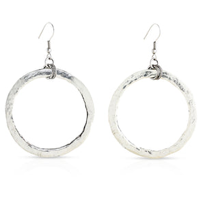 Doughnut Disc Earrings - Large