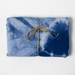Shibori Indigo Dyed Tea Towel