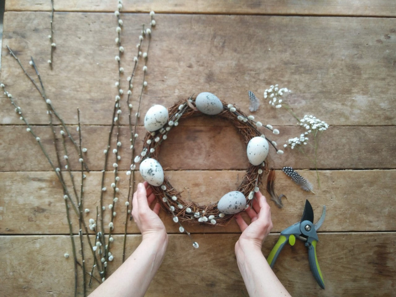 Spring Wreath: Hygge Decor Ideas