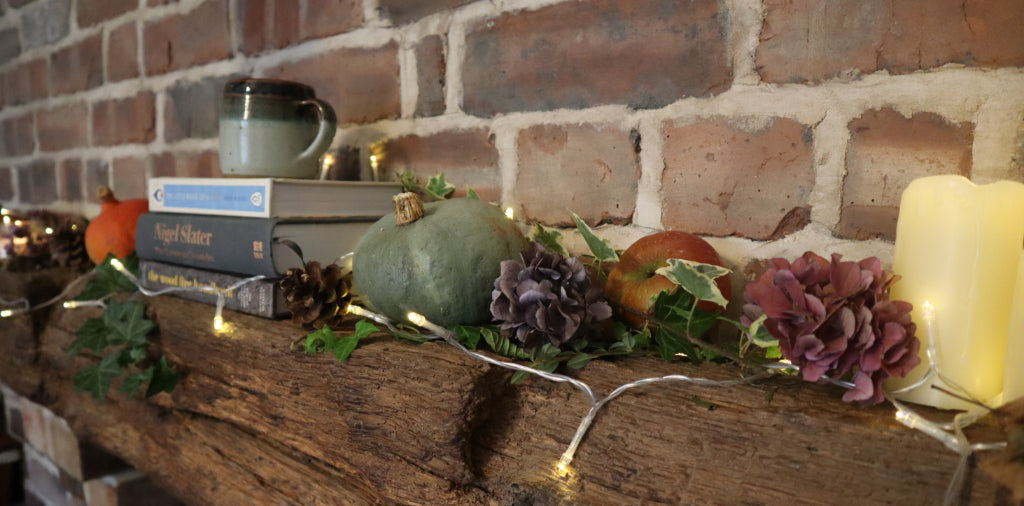 hygge home styling, autumn decor, cosy styling, bramble and fox